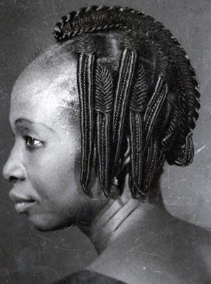 gallery of pictures of African hairstyles from the 50s-60s .